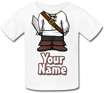 Personalised Pirate Body T-Shirt