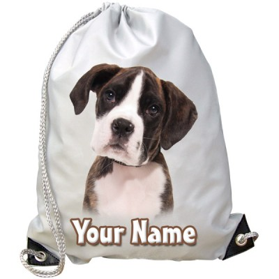 Personalised Boxer Puppy Gym Bag
