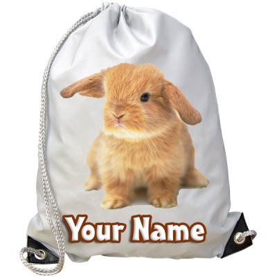 Personalised Bunny Rabbit Gym Bag