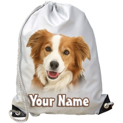 Personalised Border Collie Gym Bag