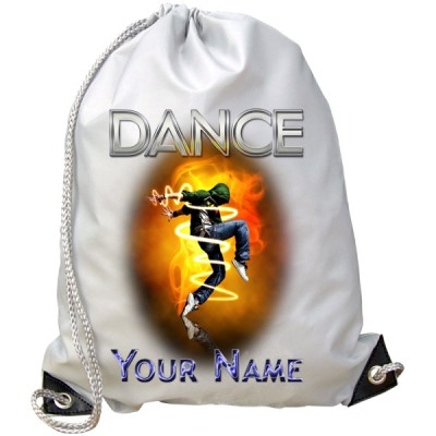 Personalised Street Dance Gym Bag (Orange)