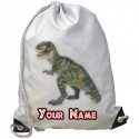 Personalised T-Rex Gym Bag