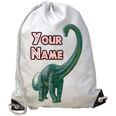 Personalised Diplodocus Dinosaur Gym Bag