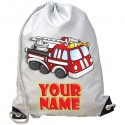 Personalised Fire Engine Gym Bag