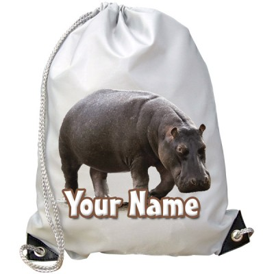 Personalised Hippopotamus Gym Bag