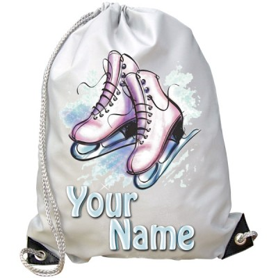 Personalised Ice Skates Gym Bag