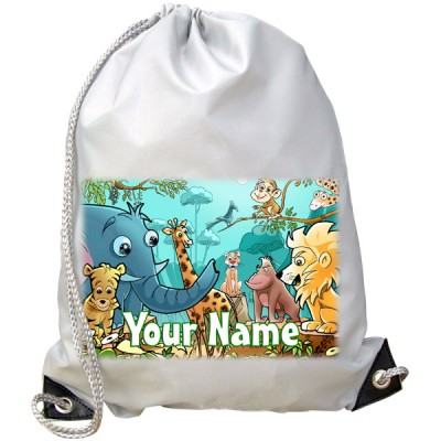 Personalised Jungle Animals Gym Bag