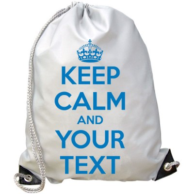 Personalised Keep Calm Gym Bag