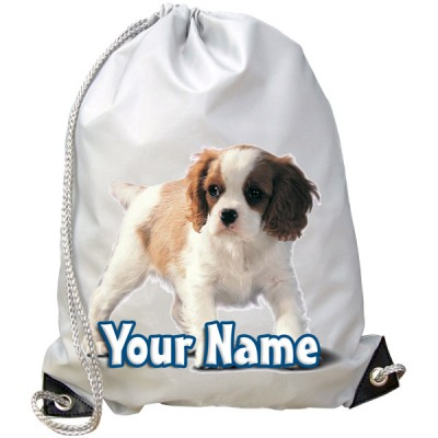 Personalised King Charles Spaniel Gym Bag