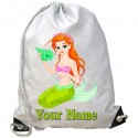 Personalised Mermaid Gym Bag