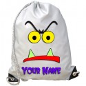 Personalised Monster Face Gym Bag