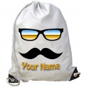 Personalised Glasses & Moustache Gym Bag