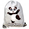 Personalised Panda Gym Bag