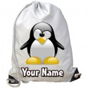 Personalised Penguin Gym Bag