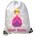 Personalised Pink Princess Gym Bag