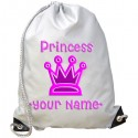 Personalised Princess Crown Gym Bag