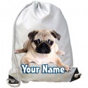 Personalised Pug Gym Bag