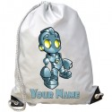Personalised Robot Gym Bag