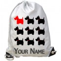 Personalised Scottish Terrier Gym Bag