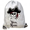 Personalised Skull & Crossbones Gym Bag