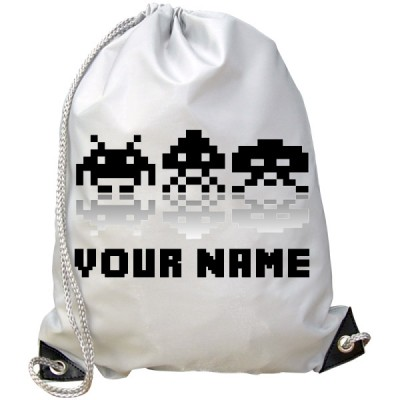 Personalised Space Invader Gym Bag