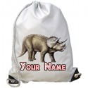 Personalised Triceratops Gym Bag