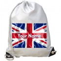 Personalised Union Jack Gym Bag