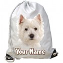 Personalised Westie Gym Bag