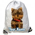 Personalised Yorkie Gym Bag