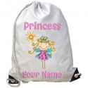 Personalised Princess Fairy Gym Bag