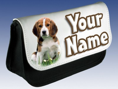 Personalised Beagle Puppy / Dog Pencil Case