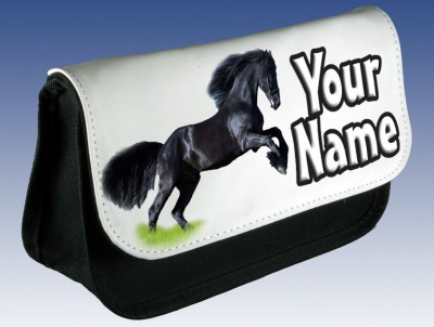 Personalised Black Horse Pencil Case