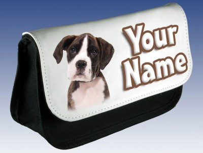 Personalised Boxer Puppy / Dog Pencil Case