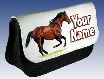 Personalised Brown Horse Pencil Case