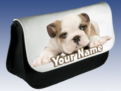 Personalised Bulldog / Puppy Pencil Case