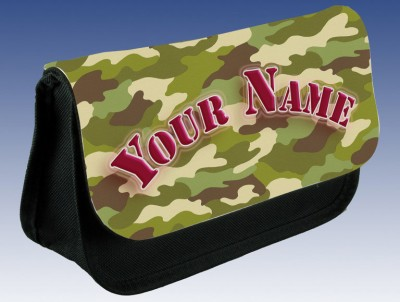 Personalised Camouflage Pencil Case