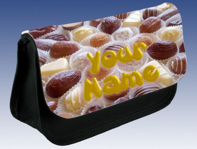 Personalised Chocolates Pencil Case