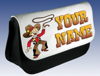 Personalised Cowboy Pencil Case