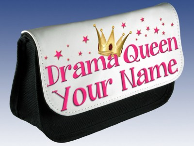 Personalised Drama Queen Pencil Case