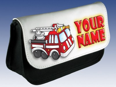 Personalised Fire Engine Pencil Case