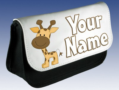 Personalised Cute Giraffe Pencil Case