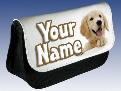 Personalised Golden Retriever Pencil Case