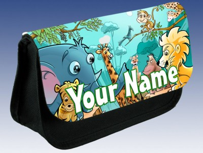 Personalised Jungle Animals Pencil Case