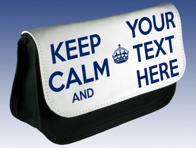 Personalised Keep Calm Pencil Case