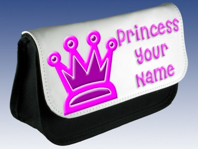 Personalised Princess Crown Pencil Case