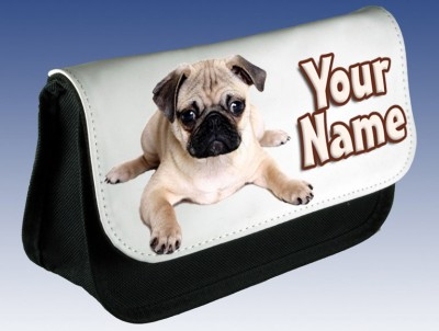 Personalised Pug Puppy Pencil Case