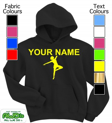 Personalised Kids Dance Hoodie (Black)