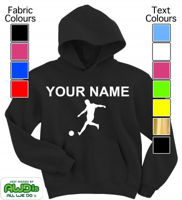 Personalised Kids Football Hoodie (Black)