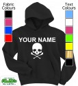 Personalised Skull & Crossbones Blk