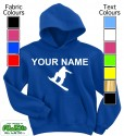 Personalised Snowboarder Blue